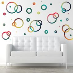 Geometric Gradient Rings and Dots | Removable Wall Decals | WallsNeedLove