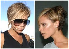 Victoria Beckham Short Hairstyles Front and Back 003