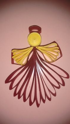 Quilled angel hanging
