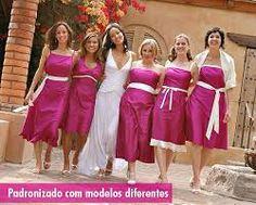 Resultado de imagem para madrinhas de casamento iguais rosa