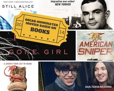 guiltless reading: Oscar-nominated movies based on books (2015)
