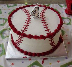Double Layer Baseball Cake, for ashleighs birthday....choice 1