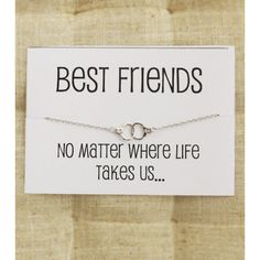 Best Friends no Matter where life take Us Card Gift Bangle Charm... ($19) ❤ liked on Polyvore featuring jewelry, bracelets, bracelets bangle, handcuff charms, charm jewelry, handcuff jewelry and christmas charms
