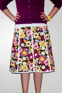 Easy Panel Skirt Tutorial   The Creative MomThe Creative Mom