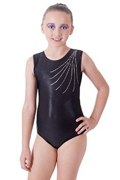 9c36ffbe91 Vincenza Dancewear Deluxe Edition  Jet Black with cascading encrusted  Diamante Gymnastic Sleeveless Leotard. Ixokevtdkxmd · Girls Activewear  Athletic Wear