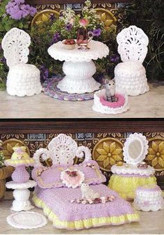 openwork furniture for barbie dolls - crafts ideas - crafts for kids