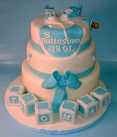 Christening cake for Thomas