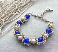 Cobalt Sky - Bracelet. $31.00, via Etsy.