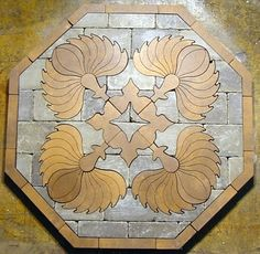 At Inlay Product World, find the largest product selections in the very specific world of flooring inlay and furniture marquetry in quality wood, stone, vinyl deck and metal. We deliver in stock and custom designs of inlay medallions, parquet flooring, borders, cornerstones, banding, compass stars/ roses, and marquetry veneers.