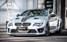 Scarica sfondi G-Power, tuning, BMW M6, E63, supercar, auto tedesche, bianco m6, BMW