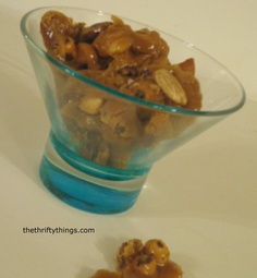 Delicious Nut Toffee #recipe made gourmet with the addition of Sea Salt. http://thethriftythings.com/2013/04/delicious-nut-toffee-with-himalayan-sea-salt-recipe.html
