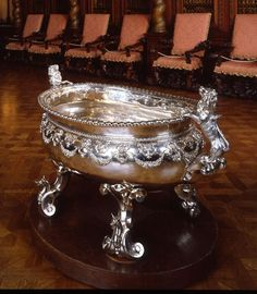 Burghley Collections | A Queen Anne massive oval wine cistern, Philip Rollos, circa 1710.