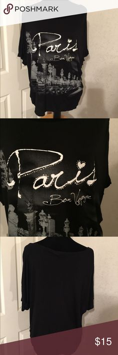 Julie's Closet Black Tee Size 4X Julie's Closet Black Tee Size 4X. This is a great printed tee Paris Bon Voyage. It is in great shape. Please view all pictures. julie's closet Tops Tees - Short Sleeve