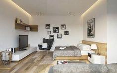 Una casa en tonos neutro con aires artísticos