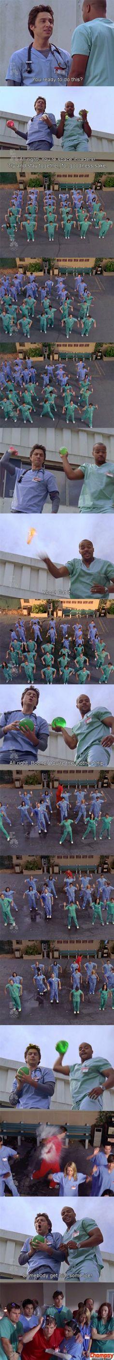 scrubs space invaders