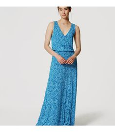 8e97708d859 Petite Abstract Blouson Maxi Dress