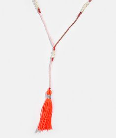 LANIDOR.COM - Shop Online | Woman Jewellery | Beaded necklace with tassel 16,90 EUR