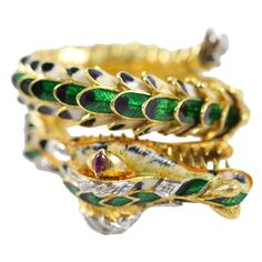 Enamel Dragon Bracelet