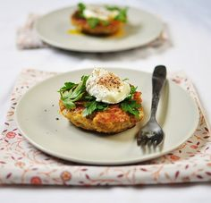 recipe given for this quinoa cakes and poached egg