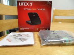 DVD ROM EXTERNAL SLIM. 8X TOP LOAD DESIGN. LITEON. NEW IN BOX