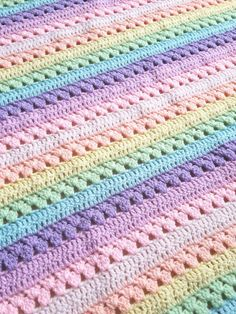 15 Best Rainbow Crochet Blankets Images In 2012 Granny Squares