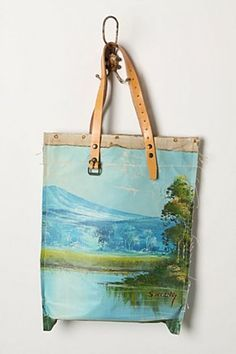 painted canvas bag...for those oil paintings you don't want on your walls!