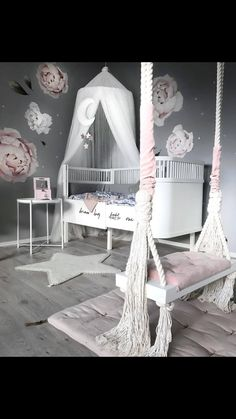 11 Cute Nursery Baby Room Ideas for Baby Girl Girls Bedroom Decor White Girls Rooms, Pastel Girls Room, Little Girl Rooms, Girls Room Design, Girl Bedroom Designs, Girls Bedroom, Design Bedroom, Baby Bedroom, Baby Girl Bedroom Ideas