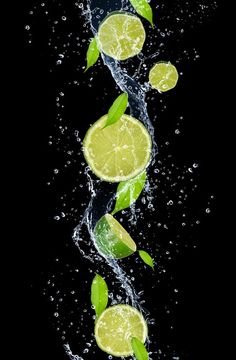 Photography Discover Limes in water splash isolated on black background Fridge Sticker Pixers - We live to change Photography Ideas At Home, Motion Photography, Splash Photography, Levitation Photography, Fruit Photography, Creative Photography, High Speed Photography, Experimental Photography, Exposure Photography