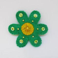 felt flower brooch Boho flower brooch  boho jewelry
