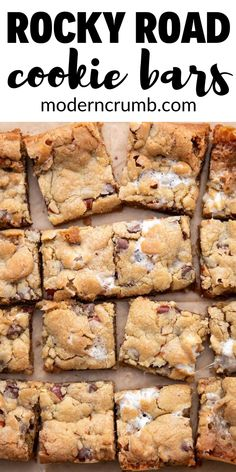 Chocolate Chip Marshmallow Cookies, Oreo Cookie Bar, Chocolate Chip Bars, Bar Cookies, Chip Cookies, Dessert For Dinner, Dessert Bars, Tostadas, Baking Recipes