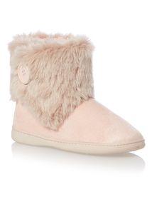 Pink Fur Trim Cupsole Boot
