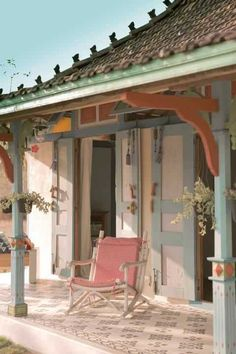 Memories of gorgeous authentic Jogyakarta teras joglo ala Roemah Pulomanuk Indonesian House, Indonesian Decor, Wooden Architecture, Interior Architecture, Bali House, Architect House, Traditional House, Tattoo Traditional, Classic House