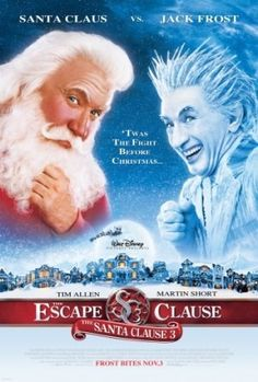 THE SANTA CLAUSE 3: THE ESCAPE CLAUSE, the third installment of the popular holiday series THE SANTA CLAUSE picks up with Everyman-turned-Santa-Claus Scott Calvin (Tim Allen) just days before Christma