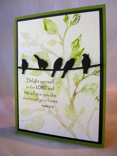 hand crafted card by Pam MacKay ... feature beautiful leafy boughs created using the embossing folder stamping technique ... looks like hand painted ... luv it!