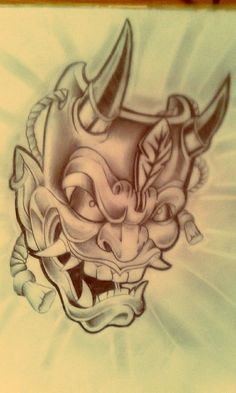 HANNYA MASK TATTOO by Malitia-tattoo89 on deviantART