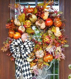 GRAPEVINE FALL or THANKSGIVING Foliage Pumpkins and by decoglitz
