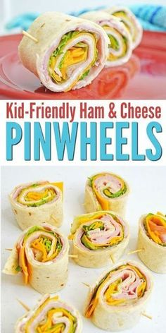 Ham and Cheese Pinwheels – A Kid-Pleasing Lunch! | Awesome Foods  Ham and Cheese Pinwheels – Perfect Back to School Lunch Idea! Perfect option for a picky eater's lunch box. Let's get started. #foodskidslove