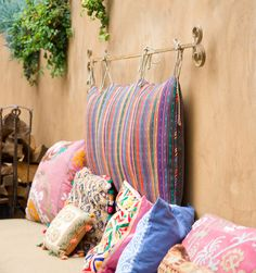 Diy pillow backsplash curtain rod