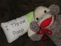 poo sock puppet