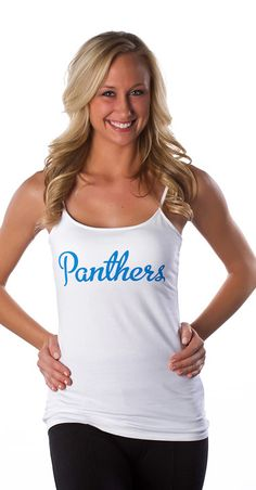All Sport Couture Carolina Panthers Double Team Camisole - Women Team Success, Double Team, Team Wear, Carolina Panthers, Fashion Forward, Camisole, Athletic Tank Tops, Personal Style, Couture