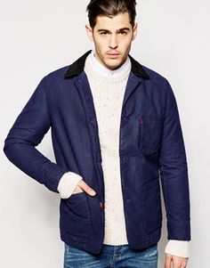 Levi's Worker Jacket Engineers Constrast Collar Coated Cotton
