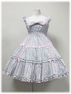 Angelic Pretty - Precocious Tiered JSK (Strawberry Floral) /// ¥26,040 /// Bust: 90~100cm Waist: 71~81cm Length: 88cm