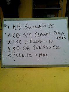 Kettlebell hybrid workout