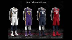 New Orleans Pelicans uniform set, 2017-18