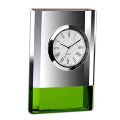 Green stripped crystal clock