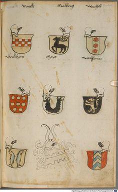 Wappen besonders von deutschen Geschlechtern Süddeutschland ?, 1475 - 1560 Cod.icon. 309  Folio 57r