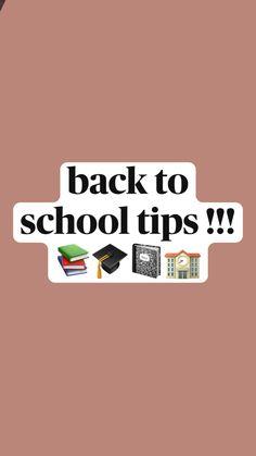 Middle School Hacks, High School Life, Life Hacks For School, School Study Tips, School Routine For Teens, School Routines, School Essentials, School Checklist, School Organization Notes