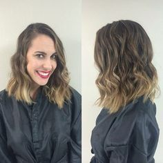 soft ombré & tousled one length