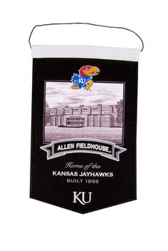 @rallyhouse   46. Kansas Jayhawks Black Allen Fieldhouse Banner