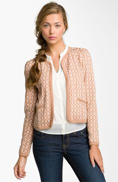 Frenchi® Jacquard Jacket (Juniors)   Nordstrom